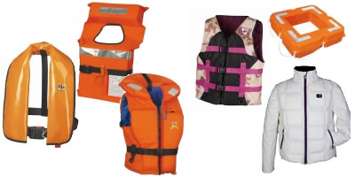 Veleria San Giorgio life jackets and life belts.