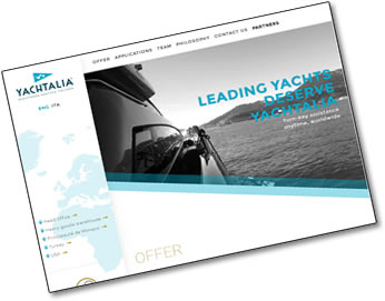 yachtalia turn-key assistance for yachts website